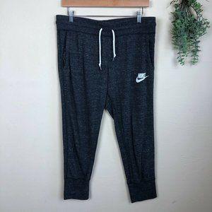 Nike | Marled Jogger Crop Sweatpants Blue